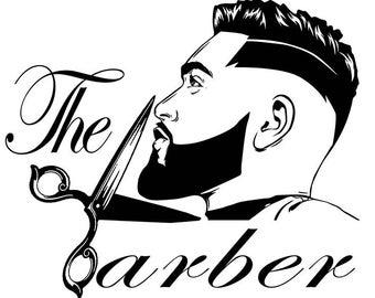 Barber clipart male hairdresser. Etsy
