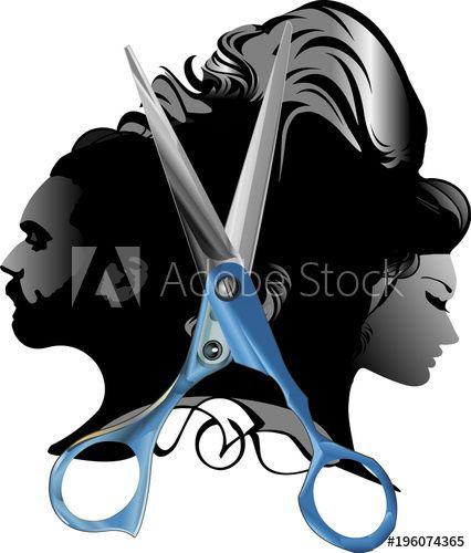 Beauty hair salon man. Barber clipart male hairdresser