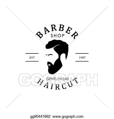 Vector stock shop logo. Barber clipart male hairdresser