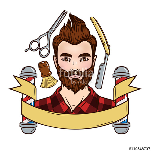 Vector illustration of a. Barber clipart male hairdresser