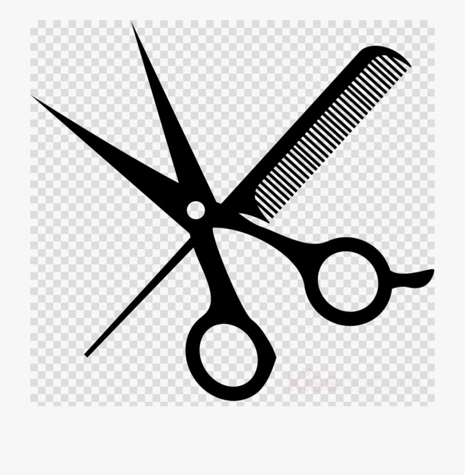 Shears clipart hair styling. Hairdresser scissors barber salon