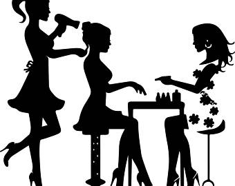 Beauty clipart beauty care. Silhouette salon at getdrawings