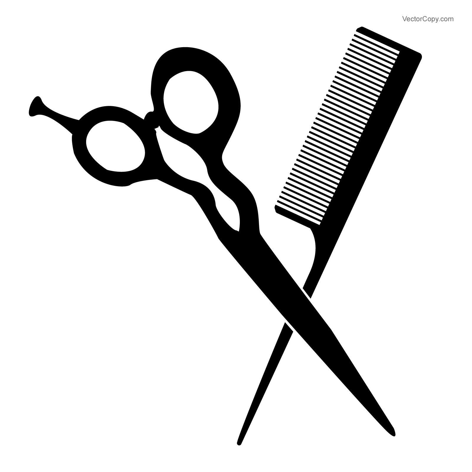 Clipart scissors comb. Silhouette at getdrawings com