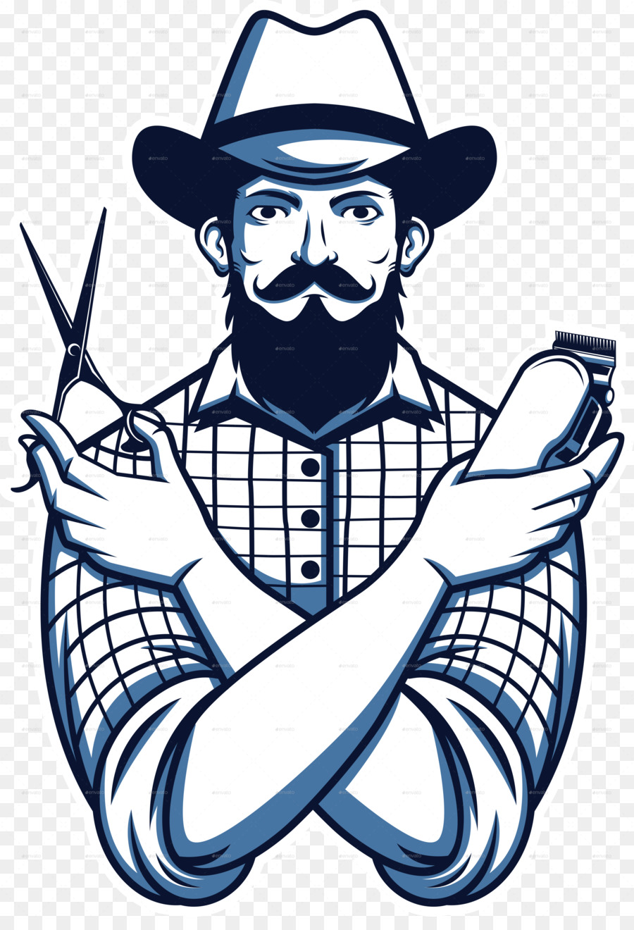 Barber clipart transparent. Barbershop hairstyle shaving beard