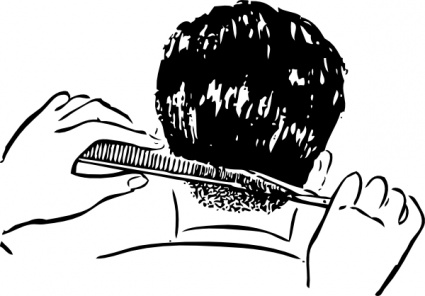 Barber clipart trim hair. Free pictures of barbers
