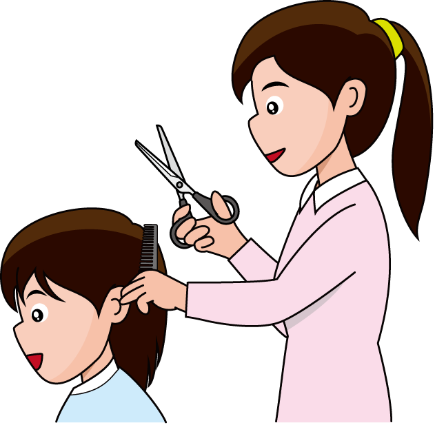 Shop clipart kid.  collection of hairdressers