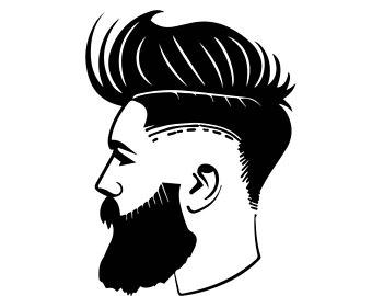 Fashion vectors etsy haircut. Barber clipart trim hair