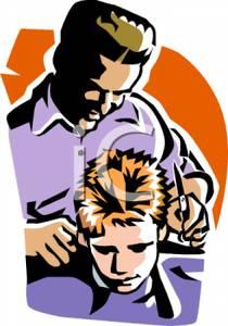 A cutting boys royalty. Barber clipart trim hair