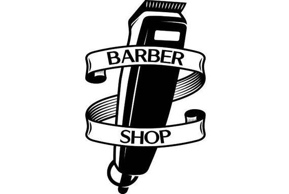 Barber clipart trim hair. Logo salon shop haircut