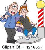 Hairdressers cutting . Barber clipart trim hair