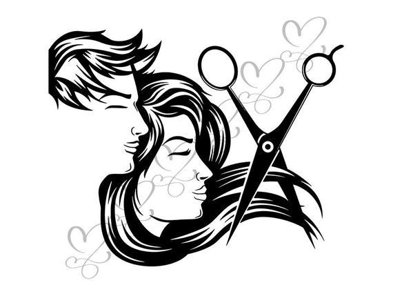 Hair salon accessories barber. Haircut clipart accessory
