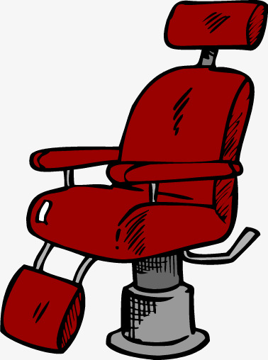 Red chair png and. Barber clipart vector