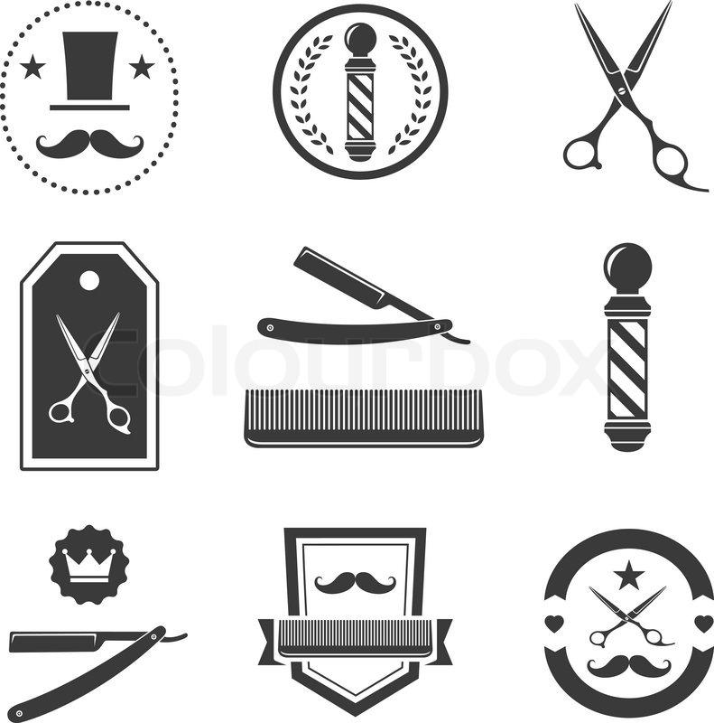 Barber clipart vector. Logo
