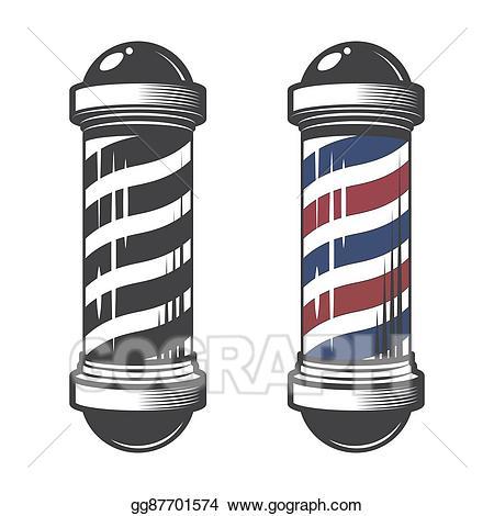 Barber clipart vector. Shop pole illustration gg
