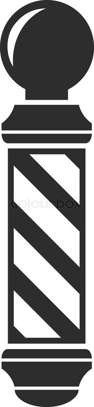 Barber clipart vector. Free pole icon download