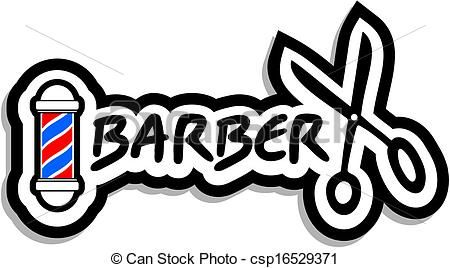 Barber clipart vector. Vectors illustration of icon