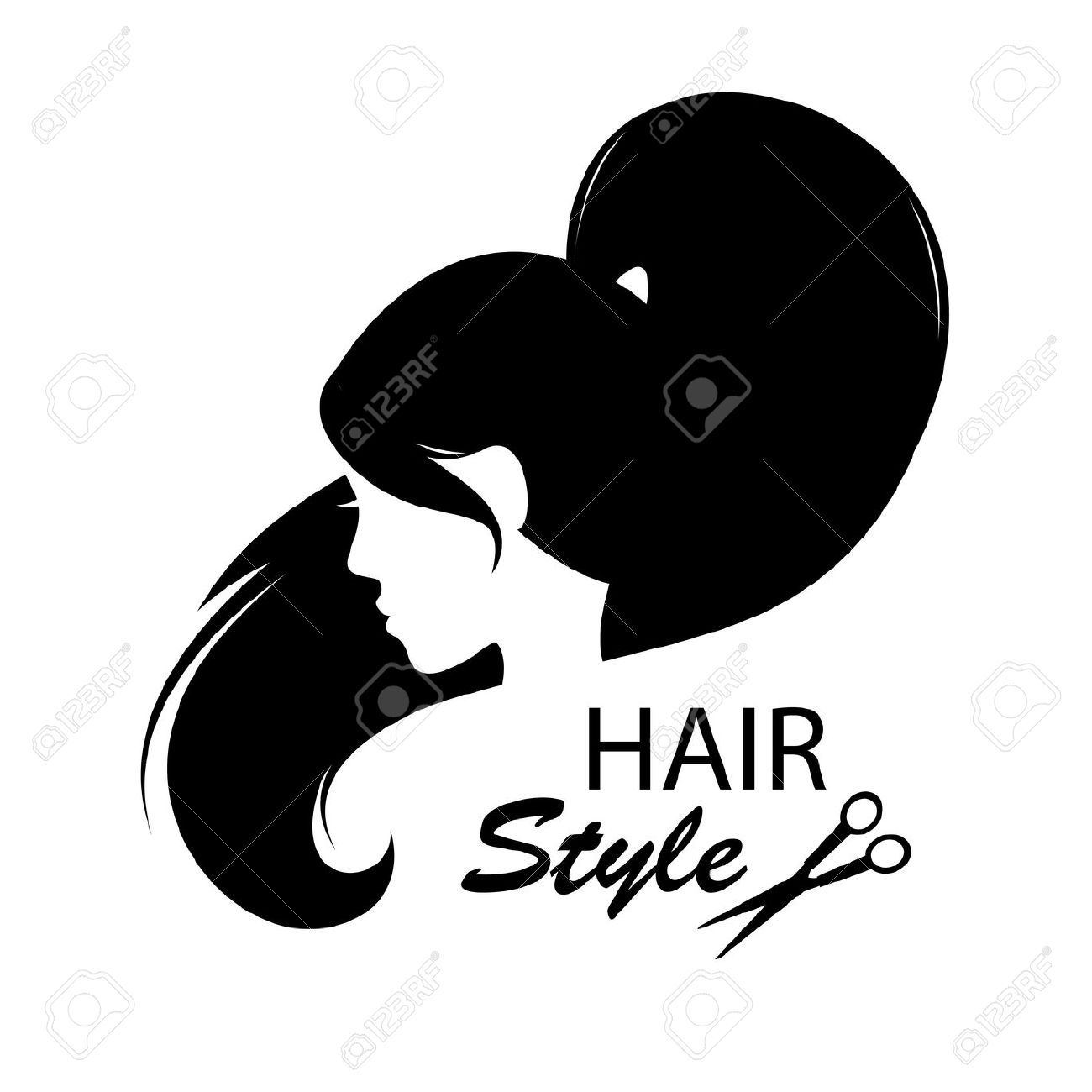 barber clipart woman