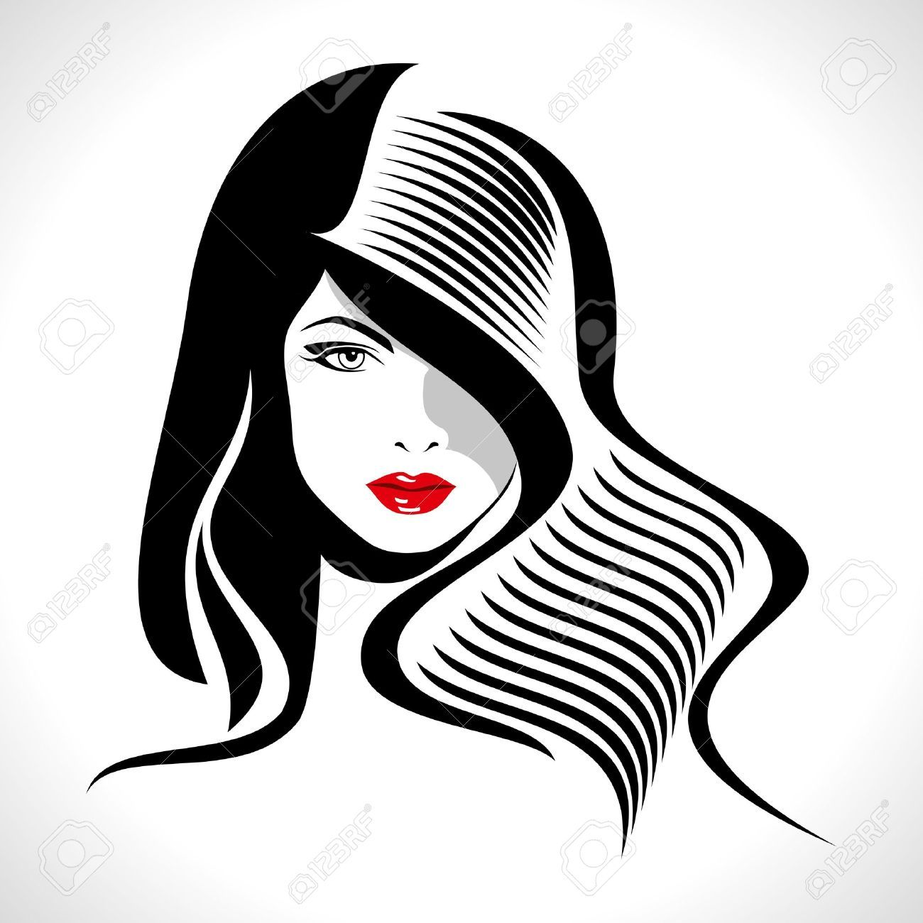 Silhouette at getdrawings com. Barber clipart woman