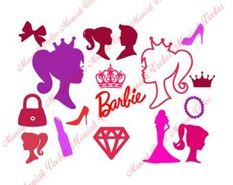 Barbie clipart. Etsy svg disney clip