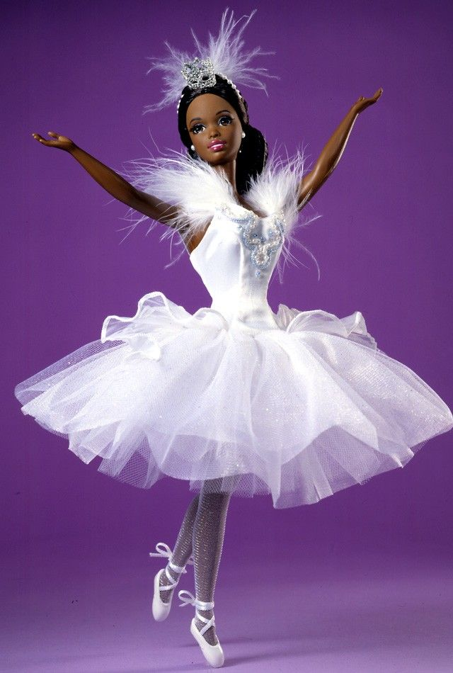 Barbie clipart african american. Doll as the swan