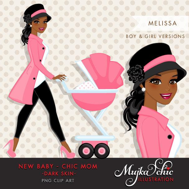 Dark skin chic mom. Barbie clipart african american