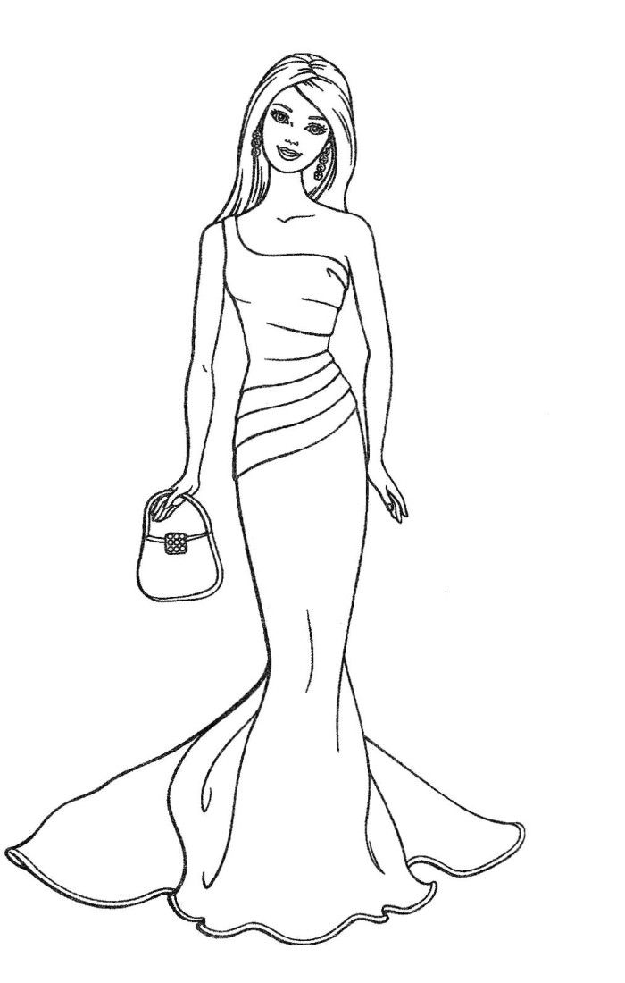 Barbie clipart black and white. Station