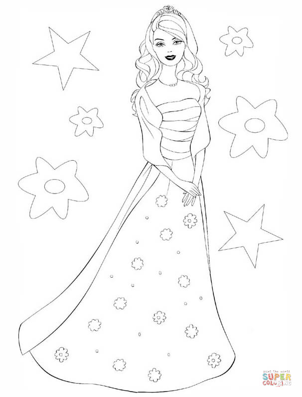 Doll coloring pages free. Barbie clipart black and white