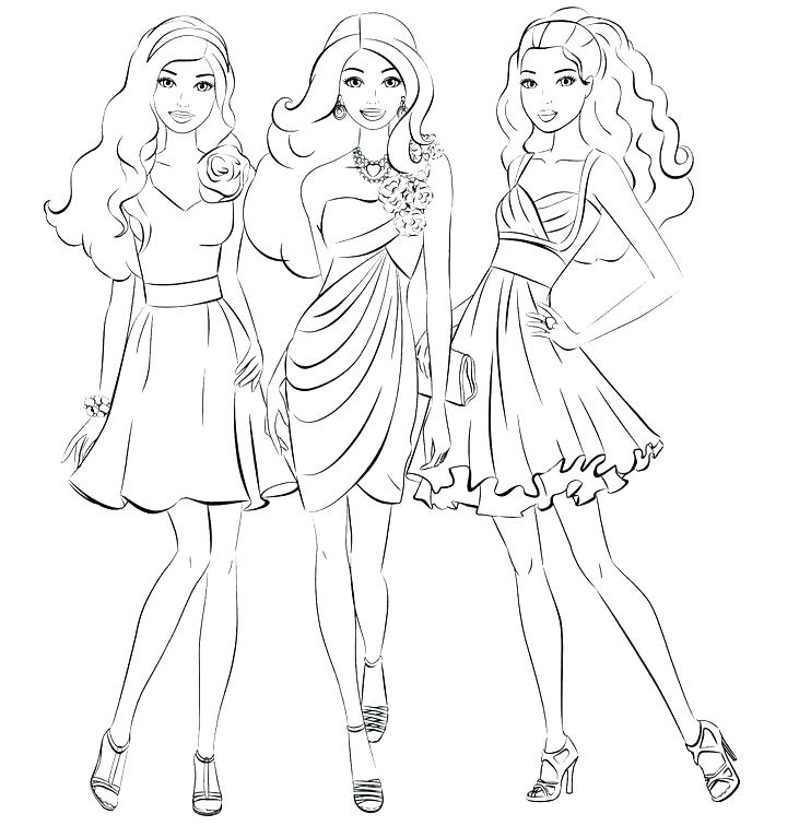 Barbieclipartblackandwhite princesses charm school. Barbie clipart black and white