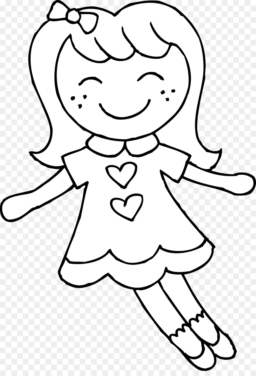 Barbie clipart black and white. Doll clip art toy