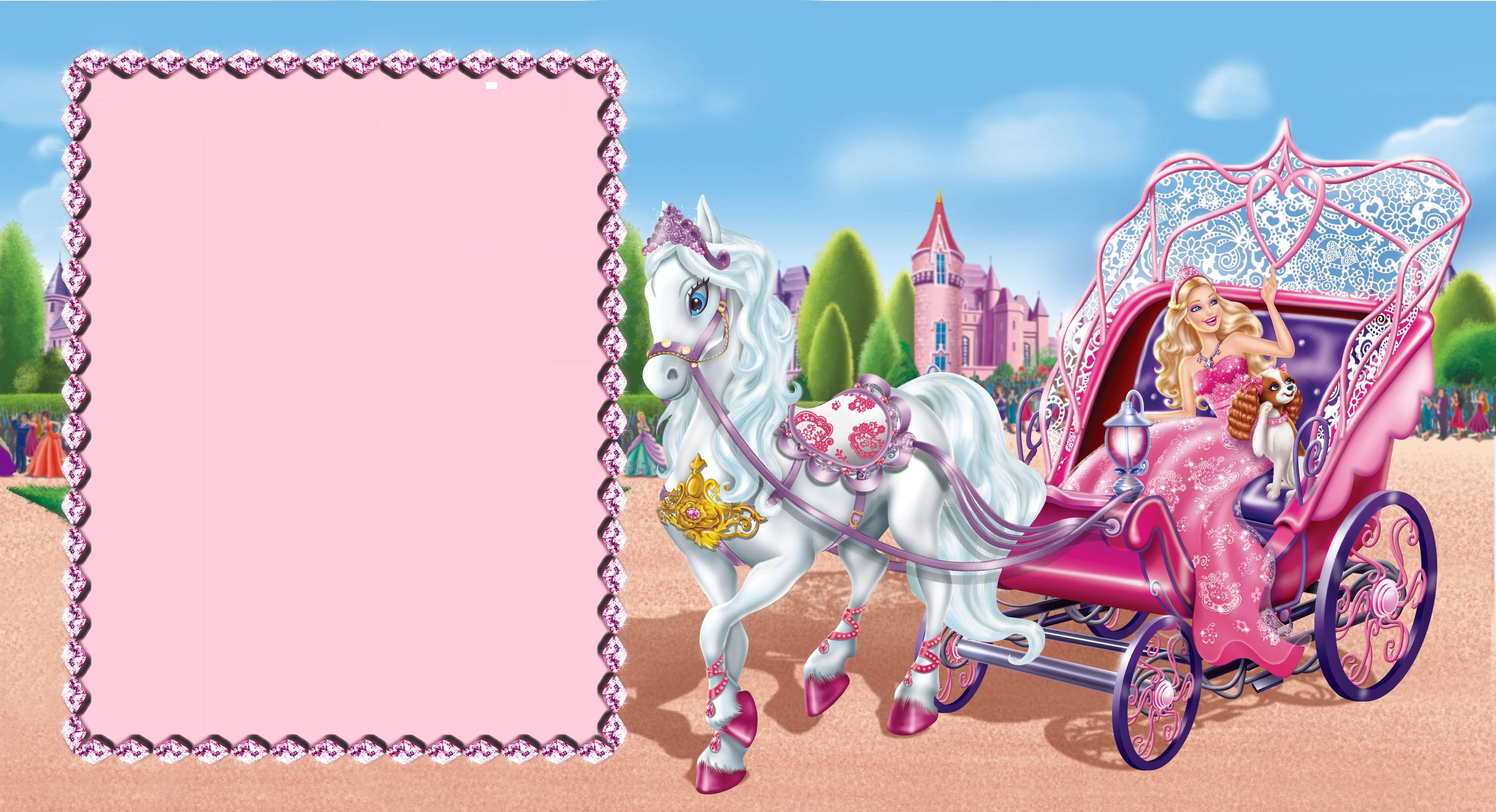 Barbie clipart borders. Cute transparent photo frame