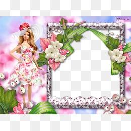 Doll png images vectors. Barbie clipart borders