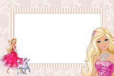 Barbie clipart borders. Plantilla invitacion popstar pinterest