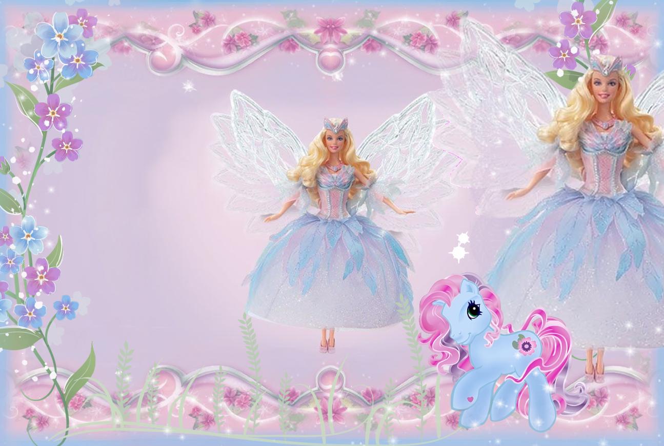 Girls kids transparent frame. Barbie clipart borders