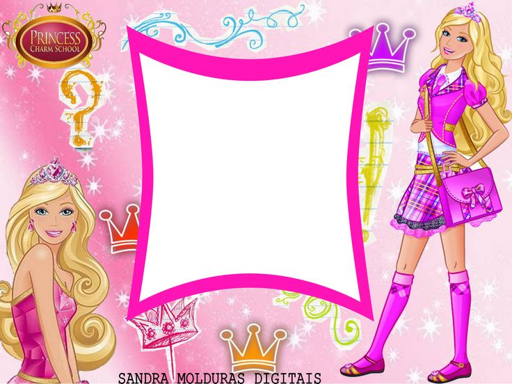 Border pencil and in. Barbie clipart borders