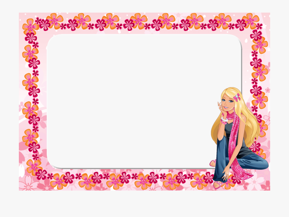 banner free library. Barbie clipart borders