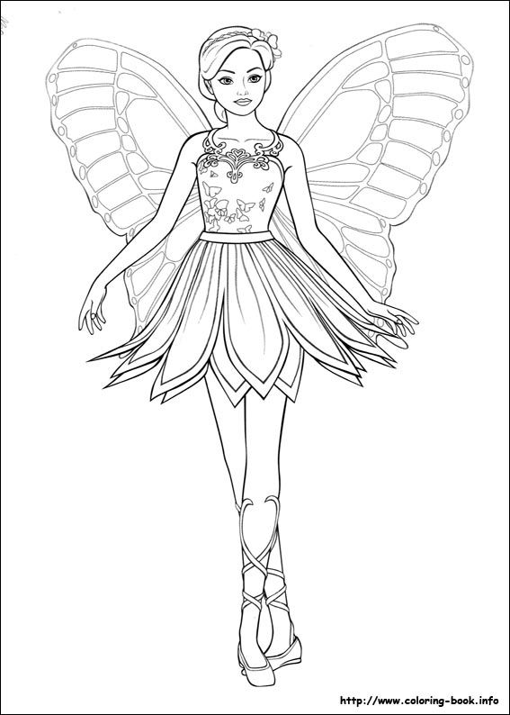 Mariposa coloring picture pinterest. Barbie clipart butterfly