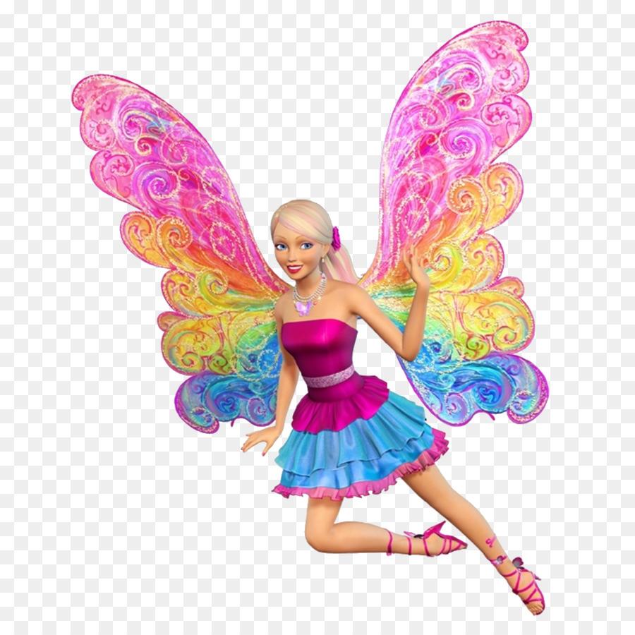 Cartoon doll . Barbie clipart butterfly