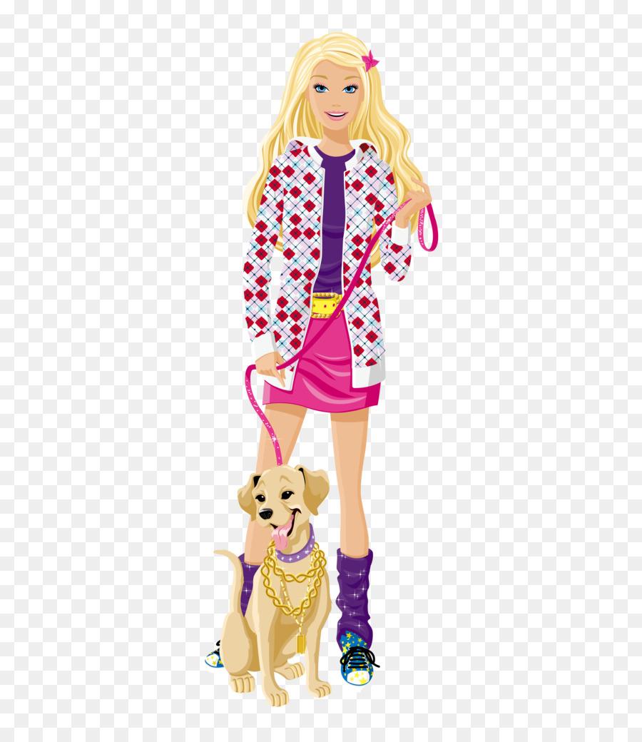 Barbie clipart carton. Cartoon doll clothing transparent