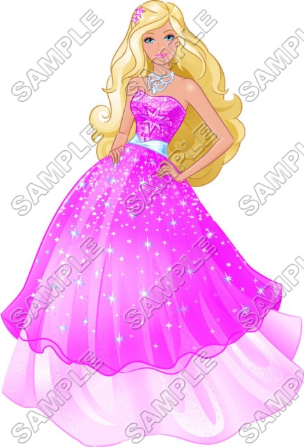 T shirt iron on. Barbie clipart character