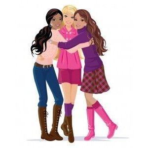 Barbie clipart clip art. Silhouette commercial friends vector