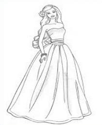 Barbie clipart drawing. Doll