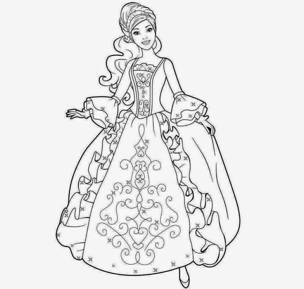 Barbie clipart drawing. Pencil art doll pic