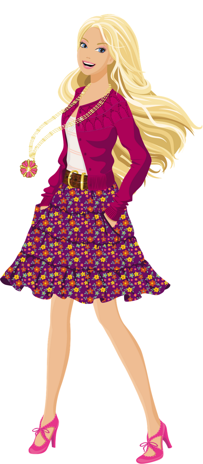 Images for barbie png. Cool clipart fashionable