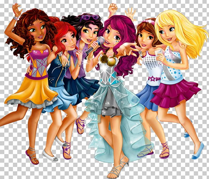 Barbie clipart group. Lego friends ideas city