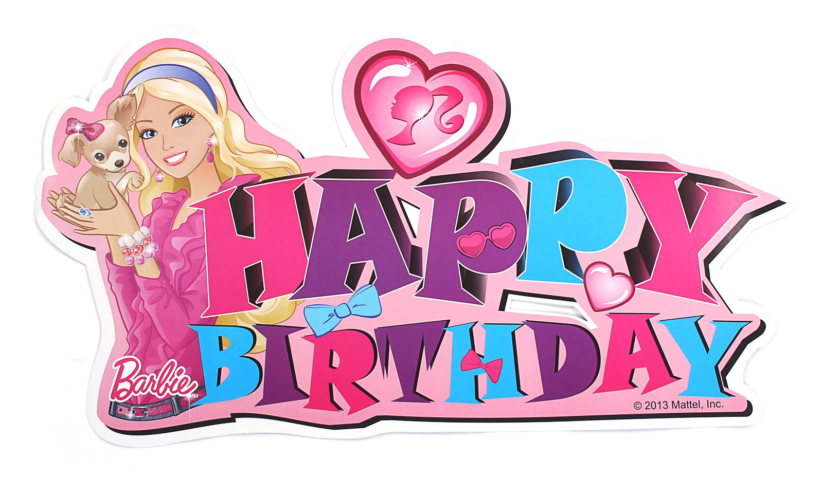 Barbie clipart happy birthday.