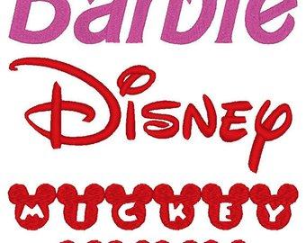 Font etsy set of. Barbie clipart monogram