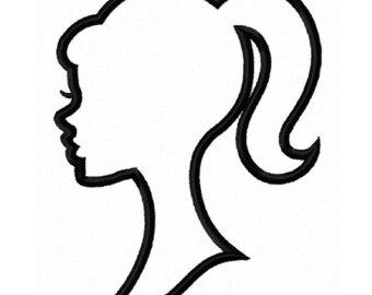 Pictures silhouette template drawing. Barbie clipart outline