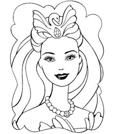collection of face. Barbie clipart outline