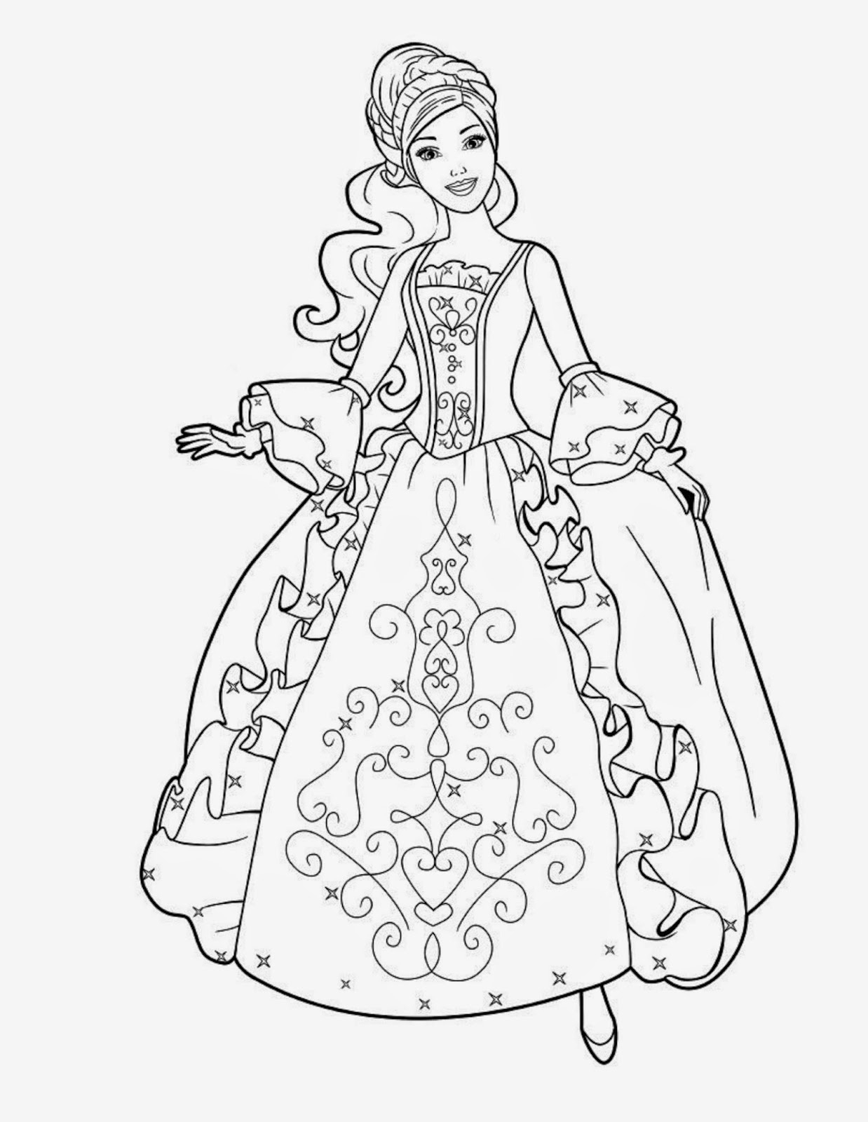 Barbie clipart outline. Free drawn download clip