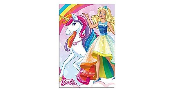 Barbie clipart poster. Amazon com unicorn satin